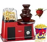 Popcornmaschine für Heimkino, 2-in-1-Popcornmaschine mit Schokoladenbrunnen, einfache Installation und Bedienung, ziemlich leicht, BPF-frei, 1200 W