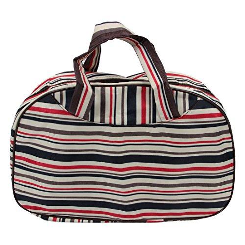 Sac - TOOGOO(R)Mode etanche Oxford Femmes Sac Stripe Colorful Sac Voyage Grand bagage a main en toile Sacs