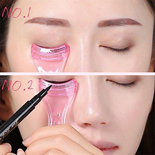 Eyeliner-Schablone von Elistelle, Hilfswerkzeug aus Kunststoff, pink