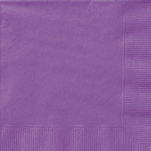 Unique Party 34472 - 16.5 cm Tovaglioli di Carta Viola, Confezione di 20