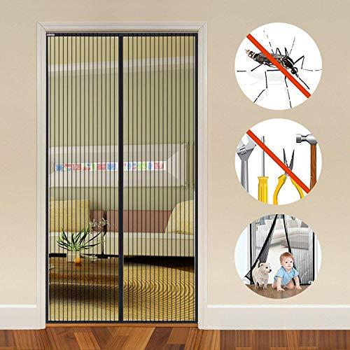 Auxent Magnet Fliegengitter Tür Insektenschutz Balkontür 100x220cm, Magnetvorhang für Terrassentür, Kellertür und Wohnzimmer, Kinderleichte Klebemontage Ohne Bohren (max. Türrahmenmaße 96x218cm)