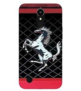 For LG K10 (2017) Horse, Black, Horse Pattern, Lovely pattern, Printed Designer Back Case Cover By CHAPLOOS