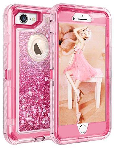 511dcab7a51 iPhone 8/7/6s/6 glitter Sparkle Quicksand custodia, Aicase Heavy Duty