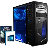 Vibox Ultra 11SW Gaming PC - with Warthunder Game Bundle, Windows 10 (3.1GHz AMD A8 Quad Core Processor, Radeon R7 Graphics Chip, 1TB Hard Drive, 16GB RAM, AvP Mamba Blue LED Case)