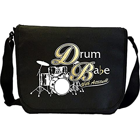 Drum Babe With Attitude - Sheet Music Document Bag Borsa Spartiti MusicaliTee