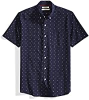 Marque Amazon - Goodthreads Standard-fit Short-sleeve Anchor-print Shirt - Chemise - Homme