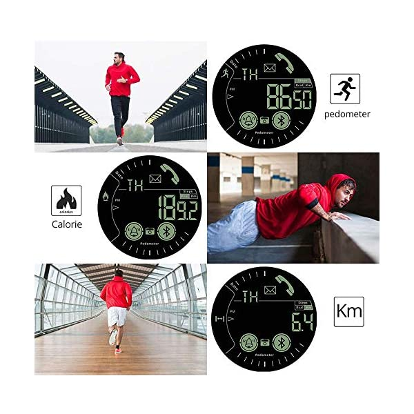 Smartwatch Hombre Deporte Reloj Inteligente Hombre Deporte con Estilo Smartwatch para Deportes y Aire Libre con Contadores de Podómetro Calorías Cronómetro Notificación de Mensajes para Android y iOS 2