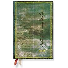 Paperblanks - Faszinierende Handschriften Conan Doyle Sherlock Holmes - Kalender 2018 Mini Horizontal - deutschsprachige Ausgabe