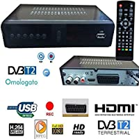 TrAdE shop Traesio® DECODER RICEVITORE DIGITALE TERRESTRE DVB-T TV SCART HDMI ANTENNA 1080P REG PVR - Trova i prezzi più bassi su tvhomecinemaprezzi.eu