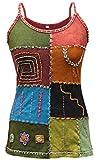 Multicolores Style Hippie Festival Femmes Hauts/Gilet,Coton Pur T-shirt, Boho, Cool