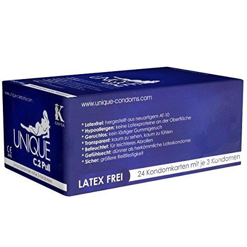 Unique Condom Card 24 x 3 latexfreie Kondome -