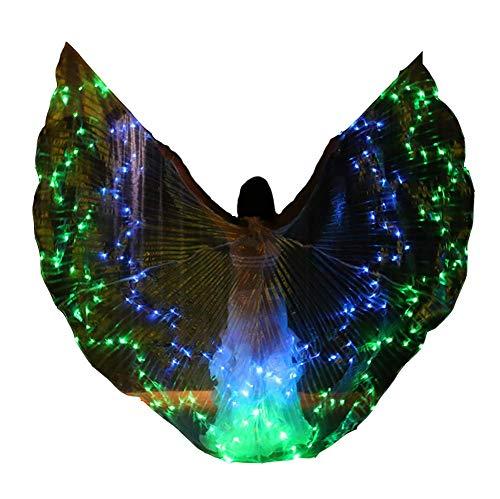 Tanz Kostüm Mit Led Leuchten - Engel LED Isis Wings Bauchtanz-Flügel Kostüm