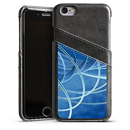 Apple iPhone 6 Housse Étui Silicone Coque Protection Cercles Anneaux Motif Étui en cuir gris