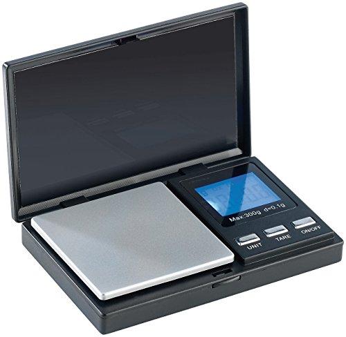 Rosenstein & Söhne Briefwaage: Digitale Taschen-Feinwaage bis 300 g, Teilung 0,1 g (Präzisionswaage) (Top-grain-pearl)