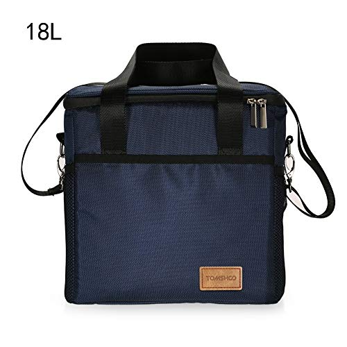 SYYL Große Kapazität Insulated Lunch Bag Faltbare Ice Cooler Tote Einkaufstüte Picknick Food Delivery Tragetasche Für Camping (Color : 18L) (18-zoll-kamin)