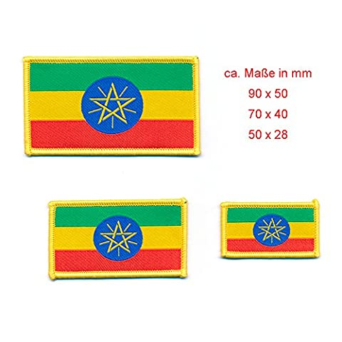 Lot de 3 Ethiopie Addis Abeba emblème drapeau flag Patch écusson thermocollant 0876