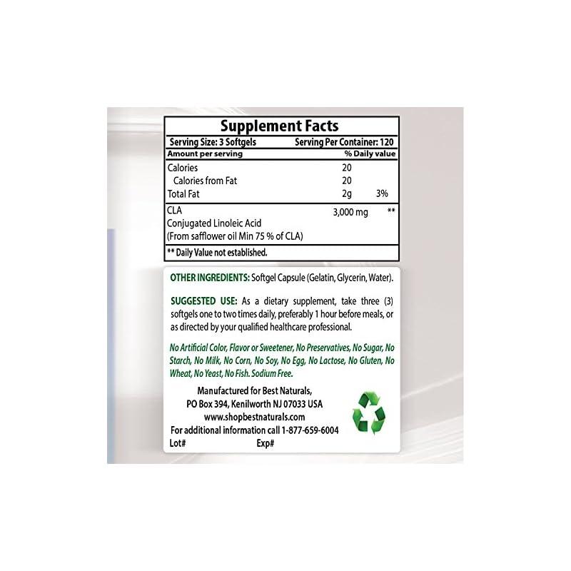 Best Naturals High Potency CLA, 1000 mg, 360 softgels