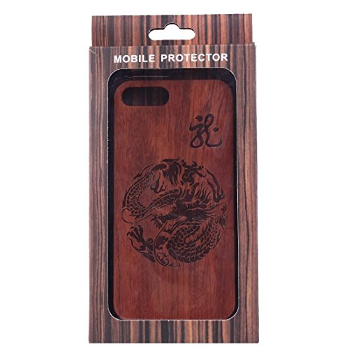 iPhone Case Cover Pour iPhone 7 Plus sculpture artistique Dragon Totem Pattern Rosewood + PC Bordure Protective Back Case Shell ( SKU : Ip7p1452a ) Ip7p1452a