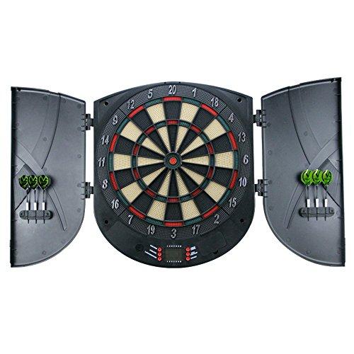 MCTECH® Profi Elektronische Dartscheibe Dartboard Dartona Soft-Dartpfeile Steeldart 6 Dartfeile +180 Varianten (Type B)