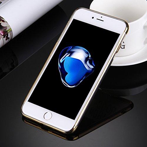 Hülle für iPhone 7 plus , Schutzhülle Für iPhone 7 Plus Galvanotechnik Soft TPU Schutzhülle ,hülle für iPhone 7 plus , case for iphone 7 plus ( Color : Silver ) Gold