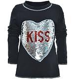 BEZLIT Mädchen Wende Pailletten Long Shirt Bluse Pullover Langarm Sweat Shirt 20982