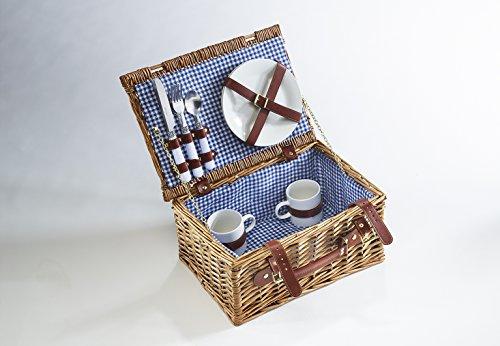 Kobolo Picknickkorb Picknickkoffer mit Zubehör für 2 Personen