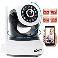 "KKmoon H.264 1280 x 720p Home Surveillance Camera Wireless IP Camera 1/4"" CMOS Support P2P AP IP Network PC/ Smartphone Baby Monitor"