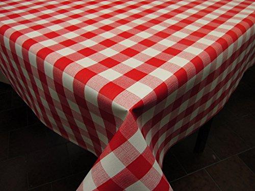 Mantel de Hule PVC estampado Ref. Picnic color Rojo, en 5 medidas