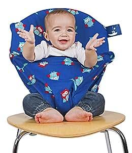 Totseat, Cuscino con imbracatura per sedia portatile, Blu (Blue)