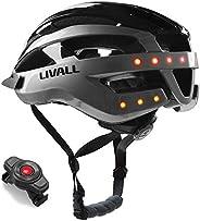LIVALL MT1 - Casco de Bicicleta Inteligente con Alarma SOS y luz LED y Unidad Multimedia