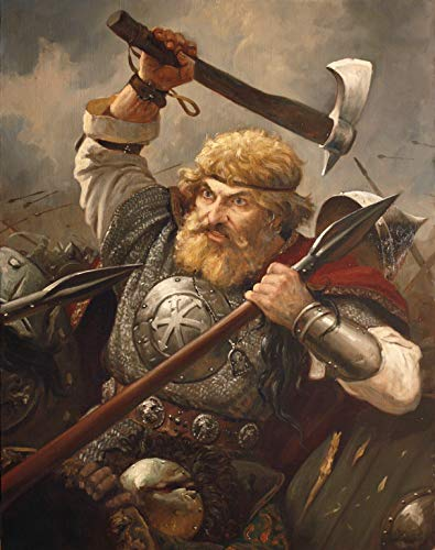 Viking Canvas, Viking Art, Norse man, Viking Poster, Viking warrior FRAMED CANVAS PRINT, Genuine Wood Internal Frame, Wall Art Decoration, High Quality Print, 3D Effect
