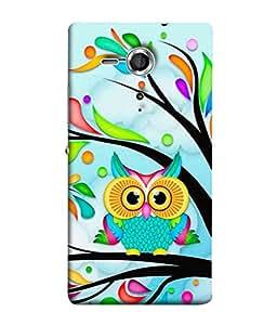 PrintVisa Designer Back Case Cover for Sony Xperia SP :: Sony Xperia SP HSPA C5302 :: Sony Xperia SP LTE C5303 :: Sony Xperia SP LTE C5306 (Wild Birds Nocturnal Leaves Trees)