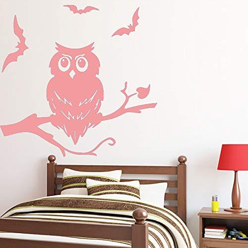 Divertido búho pegatinas pared muebles hogar decorativo