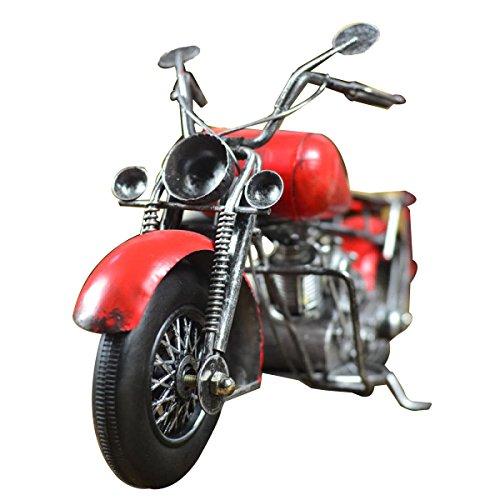 Européenne - Styled Fer Art Vintage Modèle De Moto red