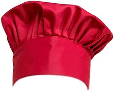 Monbedos Cappello da Cuoco Adulto Baking Chef Cappello Taglia Regolabile in Poliestere Cotone Hotel Ristorante Lavoro Cucina Chef Hat-Stripe