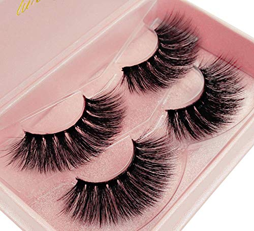 22441c01401 New 2 Pairs Luxury Fluffy False Eyelashes Thick Long Natural Fake Lashes  Set High Quality 3D Faux Mink Lashes Multipack Soft Strip Lashes Wispies Eye lashes ...