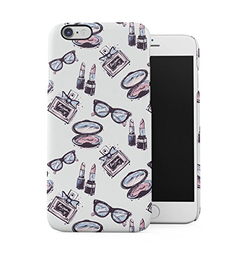 Prada 6 Iphone Case (Cute Vintage Glasses Parfume Girl Stuff Pattern Dünne Handy Schutzhülle Hardcase Aus Hartplastik Hülle für iPhone 6 / iPhone 6S Case Cover)