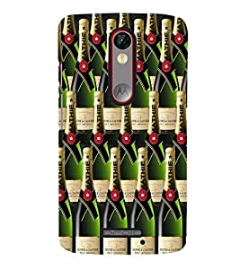 Fuson Premium Champagne Printed Hard Plastic Back Case Cover for Motorola Moto X Force