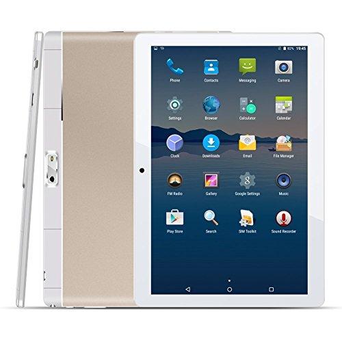 10.1 Zoll 4G Tablet PC,1G RAM +16G ROM,Batteriekapazität 4500mAh,Dual-SIM,IPS HD Display 1280x800,Quad Core CPU,Android 5.1,WIFI WLAN Bluetooth,4 Farben zur Wahl Gold von QIMAOO