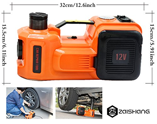 Gato hidráulico eléctrico de ZS Zaissang. 3toneladas, 155 - 450 mm, 12V, 150W, 35L/min