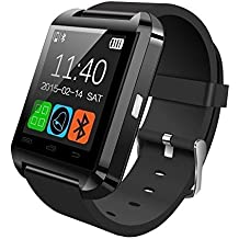 Bingo U8 Smart Watch with Bluetooth notification feature Smart Watch Phone in black, easy to connect with your phone and compatible with samsung glaxy and glaxy note 4/3/2