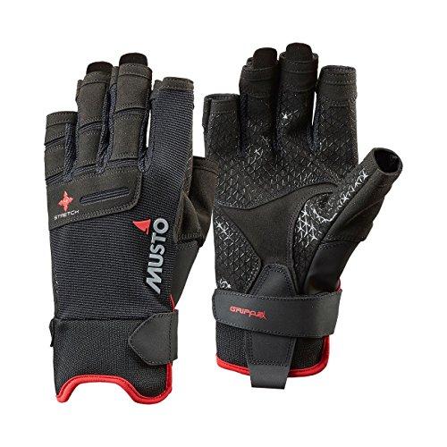 Musto Perfomance Sailing Short Finger Handschuhe in Schwarz - Erwachsene Unisex - Flexibler und atmungsaktiver Handschuh für Wassersportler