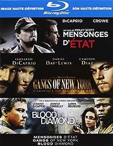Coffret Blu-ray Leonardo di Caprio : Mensonges d'état, Gangs of New York, Blood diamond
