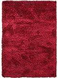 benuta Shaggy Hochflor Teppich Sophie Rot 60x115 cm   Langflor Teppich für Schlafzimmer und Wohnzimmer