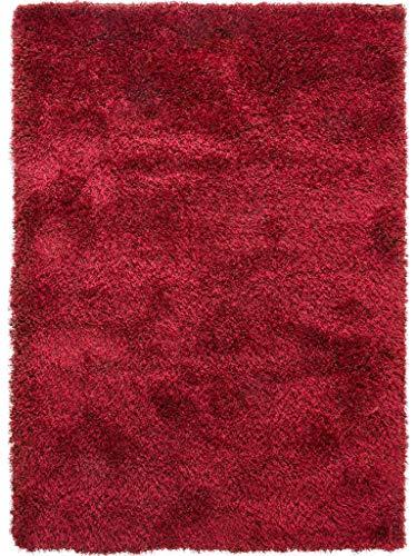 benuta Shaggy Hochflor Teppich Sophie Rot 80x150 cm | Langflor Teppich für Schlafzimmer und Wohnzimmer
