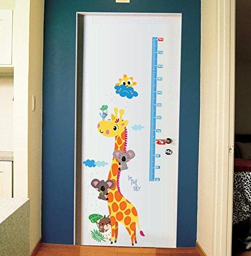 Autocollant Mesurer Hauteur Girafe pour chambre Babyphone infantiles portes salle de jeux de Open Buy