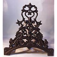 Clever-Deko Water Hose Garden Hose Pipe Holder Hose Holder, Rustic Iron Art Nouveau Design