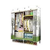 XIAONUA Tragbare Kleiderschrank-Kleidungs-Lagerung, Tragbare Kleiderkammer-Organisator-Regale hängend, besonders breit, schnell und einfach zusammenzubauen,A_43.3x17.7x66.9 in