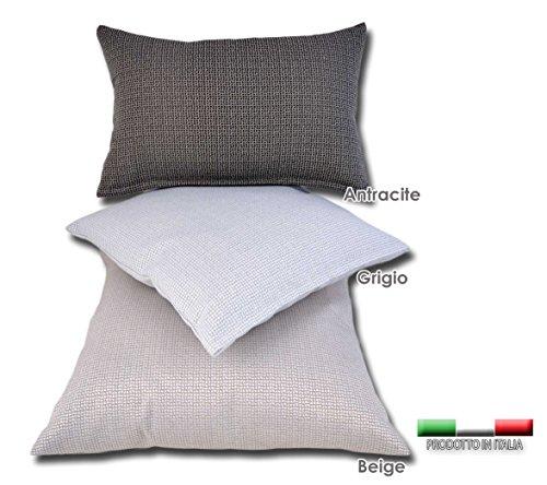 Centesimo web shop fodera copri cuscino arredo 4 misure 3 colori prodotto in italia - divano camera soggiorno salotto sala - fantasia moderna moderno - 60x60 cm grigio