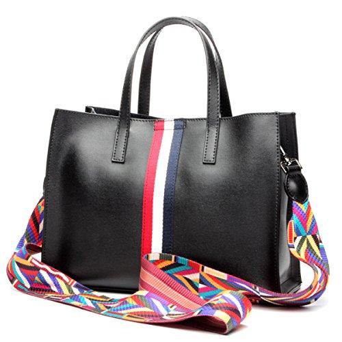 Signore Di Modo Semplice Messenger Bag Multi-color Black